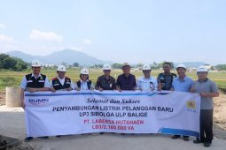 Dukung pariwisata Danau Toba, PLN Sibolga resmikan penyambungan listrik ke PT Labersa Balige