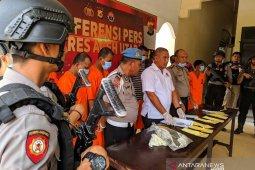 Polisi Aceh Utara ciduk 12 tersangka terlibat narkoba, 1 pelajar SMP