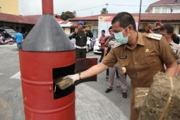 Polres Pematangsiantar bakar 57,7 Kg ganja tangkapan