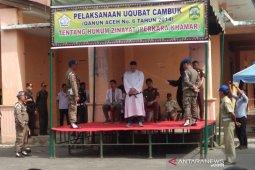 Pengelola cafe melanggar syariat di Takengon dihukum cambuk