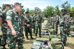 Asops Panglima TNI periksa kesiapan Operasi Satgas Yonif RK 732