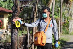 Polisi olah TKP kebakaran rumah di Aceh Besar