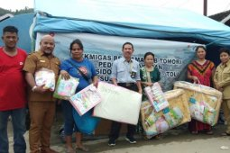 Aksi peduli bencana JOB Tomori kini sentuh korban kebakaran di Toli-toli