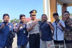 Gelar lepas sambut, mantan Kapolres Aceh Jaya berterimakasih kepada awak media