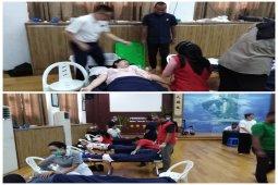 Donor darah Budha Tzu Chi dan PMI di Tebing Tinggi