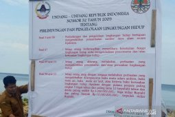 Pemkot Gunungsitoli pasang pengumuman di lokasi reklamasi  ilegal