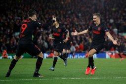 Atletico runtuhkan keangkeran Anfield untuk singkirkan Liverpool