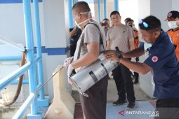 Antisipasi virus corona, pelabuhan Sabang disemprot desinfektan