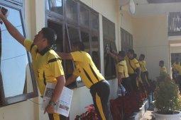 Siaga corona, Polres Bener Meriah bersih-bersih lingkungan kerja