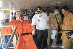 Satgas COVID 19 Bali semprot disinfektan Pelabuhan Gilimanuk