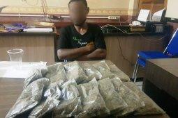 Polisi tangkap pemuda yang coba selundupkan ganja