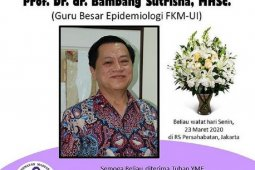 Guru besar epidemiologi meninggal dunia, UI masih tunggu hasil laboratorium