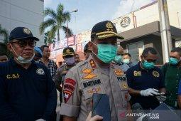 Kapolda tinjau lokasi ledakan di Plaza Ramayana Medan
