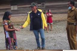 Anggota DPRD Langkat dari Golkar semprot pemukiman warga tiga desa