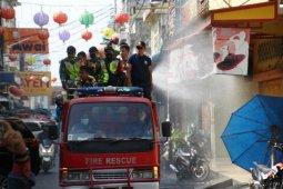 Lagi, ruas jalan Kota Pematangsiantar disiram disinfektan