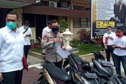 Polrestabes Medan amankan puluhan  geng motor saat pencegahan COVID-19