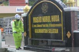 Penyemprotan Disinfektan di Kawasan Terminal Angkutan Umum