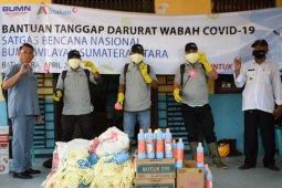 Cegah COVID-19, Inalum kembali bantu masker, vitamin dan disinfektan tiga desa di Batu Bara