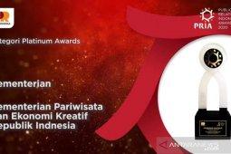 Kemenparekraf raih Platinum Awards di ajang PR Indonesia Awards 2020