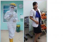 Dokter Indrawati, melepas rindu dengan keluarga melalui video call ketika pandemi COVID-19