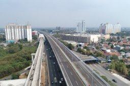 Arus lalu lintas di gerbang tol Cikampek Utama lancar
