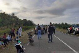 Polsek Telaga Biru membubarkan kerumunan pemuda akan balap liar
