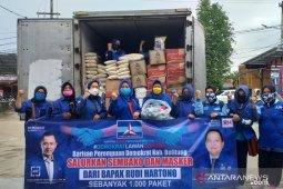 Barisan Perempuan Demokrat Belitung bagikan 1.000 paket sembako dan masker