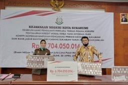Kejari Sukabumi kembalikan uang ke kas negara Rp6,7 miliar dari kasus korupsi