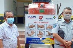 Satgas Bencana BUMN Sumut salurkan APD ke Kabupaten Labuhanbatu