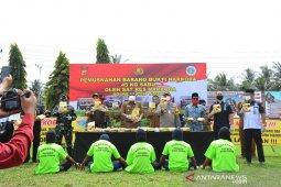 Polres Aceh Timur musnahkan 45 kilogram sabu-sabu