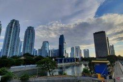 Wilayah Jakarta berpotensi hujan ringan pada Jumat siang ini