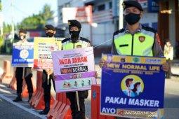 Foto - Polisi sosialisasikan PSBB Gorontalo diperpanjang