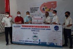 AirNav Indonesia Area  Jambi serahkan bantuan melalui Satgas BUMN