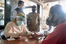Tes cepat corona di Pasar Sentral Sanggau, enam pedagang reaktif