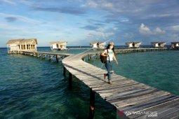 Foto - Objek Pulo Cinta Boalemo mulai dikunjungi warga