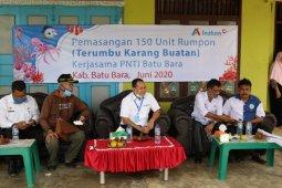Tunjukkan kepedulian ke nelayan, INALUM kembali bantu 150 rumpon di Desa Medang dan Gambus Batu Bara