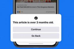 Facebook peringatkan pengguna sebelum bagikan artikel lama