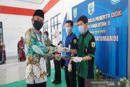 Pelepasan peserta didik SMKN 1 Batumandi dilaksanakan secara online