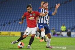 MU dekati posisi empat besar klasemen Liga Inggris seusai menang 3-0 atas Brighton