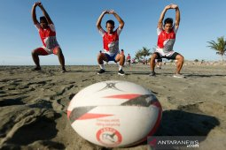 Latihan Atlet Cabor Rugby Aceh
