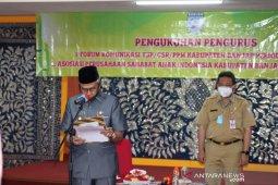 Bupati kukuhkan pengurus Forum KTSP-CSR dan APSAI Banjar