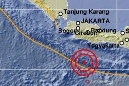 Laut selatan Jawa diguncang gempa magnitudo 5,0