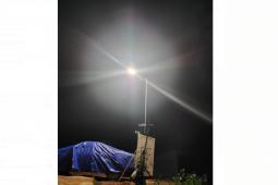 PJU TMMD terangi jalan di Desa Beringin Rayo