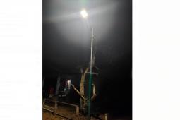 Desa Beringin Rayo Kecamatan Tumbang Titi kini terang benderang