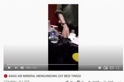 Gapmmi: video pengujian air mineral adalah hoax
