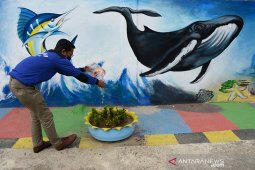 Mural ketahanan pangan di kampung tangguh nusantara