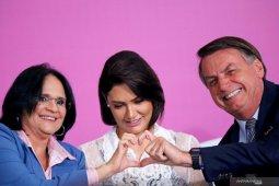 Istri Presiden dan Menteri Teknologi Brazil positif Covid-19