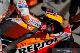 Bos Repsol Honda ungkap penyebab pelat di lengan Marc Marquez patah