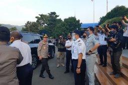 Kacab JR Banten hadiri kunjungan Kapolda dan Kakor Lantas Polri ke Pelabuhan Merak