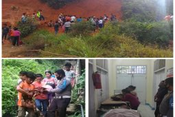 4 orang tertimbun longsor di Sibolga, 2 meninggal